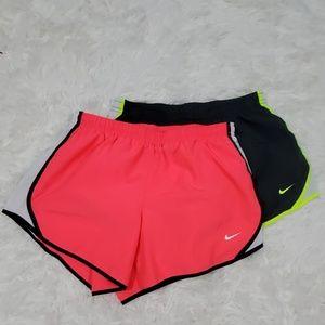 2 Nike neon running shorts NWOT youth size large